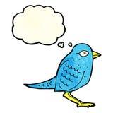 Cartoon garden bird with thought bubble Royalty Free Stock Photo