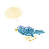 Cartoon garden bird with thought bubble Royalty Free Stock Images