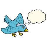 Cartoon garden bird with thought bubble Royalty Free Stock Photos