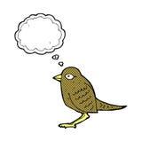 Cartoon garden bird with thought bubble Stock Image