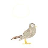 Cartoon garden bird with thought bubble Stock Photography