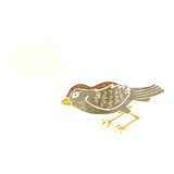 Cartoon garden bird with thought bubble Royalty Free Stock Photography