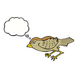 Cartoon garden bird with thought bubble Stock Photos