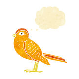 Cartoon garden bird with thought bubble Royalty Free Stock Image