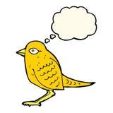 Cartoon garden bird with thought bubble Stock Photo