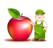 Cartoon gardener Stock Photo