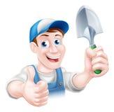 Cartoon Gardener Stock Photography