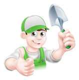 Cartoon Gardener Holding Trowel Royalty Free Stock Photo