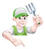 Cartoon Gardener Man Royalty Free Stock Images