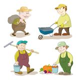 Cartoon: gardeners work Royalty Free Stock Photography