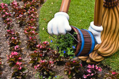 Cartoon gardening Stock Photos