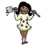 Cartoon gardening girl Stock Image