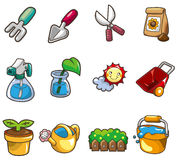 Cartoon Gardening icon Stock Image