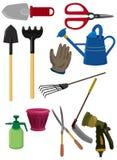Cartoon gardening icon. Drawing Royalty Free Stock Photos