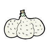 Cartoon garlic Royalty Free Stock Image