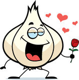 Cartoon Garlic Bulb in Love Stock Photo