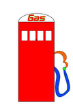 Cartoon Gas Pump Royalty Free Stock Photo