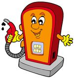 Cartoon gas station Stock Photo
