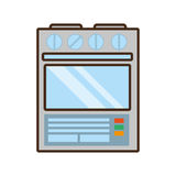 cartoon gas stove appliance kitchen home Royalty Free Stock Image