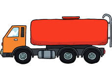 Cartoon gasoline tanker Stock Photos