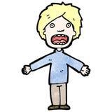 Cartoon gasping man Stock Image