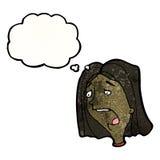 Cartoon gasping woman Royalty Free Stock Photos