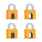 Cartoon Gateway Concept. Vector illustration of cartoon gateway or door on a lock royalty free illustration