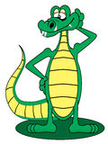 Cartoon Gator Royalty Free Stock Images