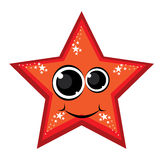 Cartoon gay red star Stock Images
