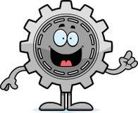 Cartoon Gear Idea Stock Photo