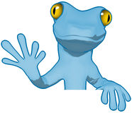 Cartoon gecko Stock Photo