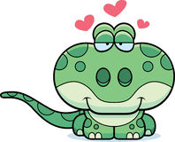 Cartoon Gecko Love Royalty Free Stock Images