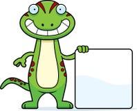 Cartoon Gecko Sign Stock Photography