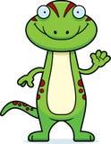 Cartoon Gecko Waving Stock Photos