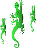 Cartoon geckos Royalty Free Stock Photo