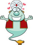 Cartoon Genie Hug Stock Images