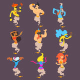 Cartoon Genie Set Royalty Free Stock Images