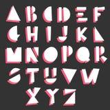 Cartoon geometric alphabet Royalty Free Stock Photo