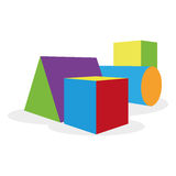 Cartoon Geometric Forms Isolated Royalty Free Stock Image
