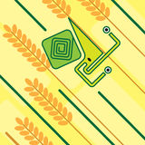 Cartoon geometric snail on a blade of grass Stock Photography