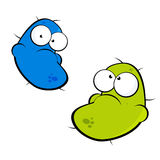 Cartoon germ characters Stock Image