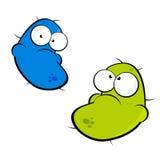 Cartoon germ characters Stock Image