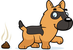 Cartoon German Shepherd Poop Stock Photography