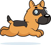 Cartoon German Shepherd Running Royalty Free Stock Images