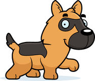 Cartoon German Shepherd Walking Royalty Free Stock Images