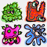 Cartoon Germs Royalty Free Stock Photos