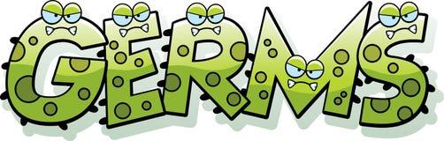 Cartoon Germs Text Stock Image
