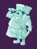 Cartoon ghost butler Stock Photography