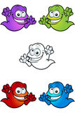 Cartoon Ghost Character Stock Photos