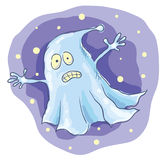 Cartoon ghost at night Royalty Free Stock Photos